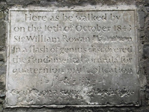 http://commons.wikimedia.org/wiki/File:William_Rowan_Hamilton_Plaque_-_geograph.org.uk_-_347941.jpg