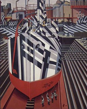 http://commons.wikimedia.org/wiki/File:Dazzle-ships_in_Drydock_at_Liverpool.jpg