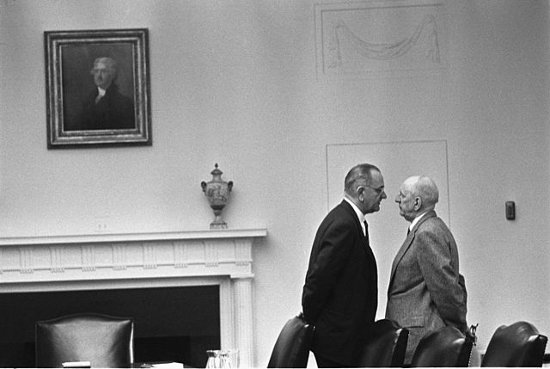 http://commons.wikimedia.org/wiki/File:Lyndon_Johnson_and_Richard_Russell.jpg