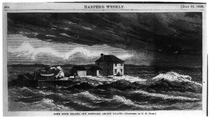http://commons.wikimedia.org/wiki/Category:Ida_Lewis_Lighthouse#mediaviewer/File:Lime_Rock_Island_in_1869_Harper%27s_Weekly.jpg