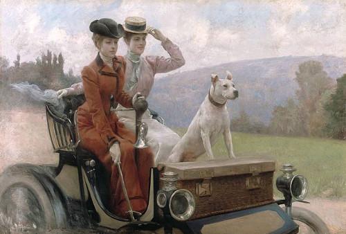 https://commons.wikimedia.org/wiki/File:Julius_LeBlanc_Stewart_-_Les_Dames_Goldsmith_au_blois_de_Boulogne_en_1897_sur_une_voiturette.jpg