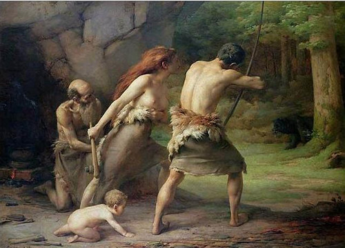 https://commons.wikimedia.org/wiki/File:Emmanuel_Benner_-_Prehistoric_Man_Hunting_Bears.jpg