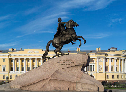 http://commons.wikimedia.org/wiki/File:The_Bronze_Horseman_(St._Petersburg,_Russia).jpg