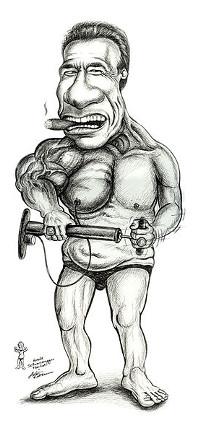 http://commons.wikimedia.org/wiki/File:Karikatur_von_Arnold_Schwarzenegger.jpg