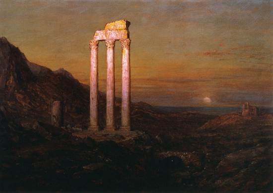 http://commons.wikimedia.org/wiki/File:Moonrise_Frederic_Edwin_Church_1889.jpeg