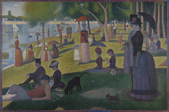 http://commons.wikimedia.org/wiki/File:Georges_Seurat_-_A_Sunday_on_La_Grande_Jatte_--_1884_-_Google_Art_Project.jpg