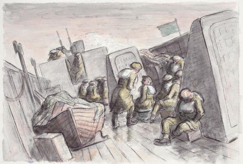 http://commons.wikimedia.org/wiki/File:A_view_of_a_deck_of_a_ship_in_a_rough_sea._Edward_Jeffrey_Irving_Ardizzone_Art.IWMARTLD4390.jpg