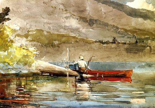 https://commons.wikimedia.org/wiki/File:The_Red_Canoe_Winslow_Homer_1889.jpeg