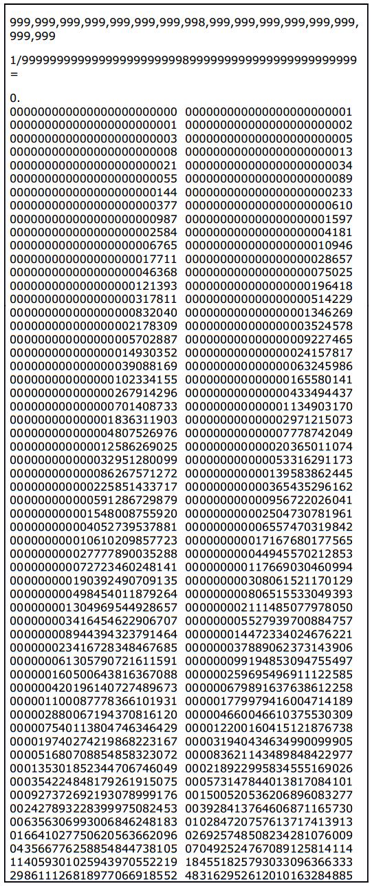 fibonacci expansion