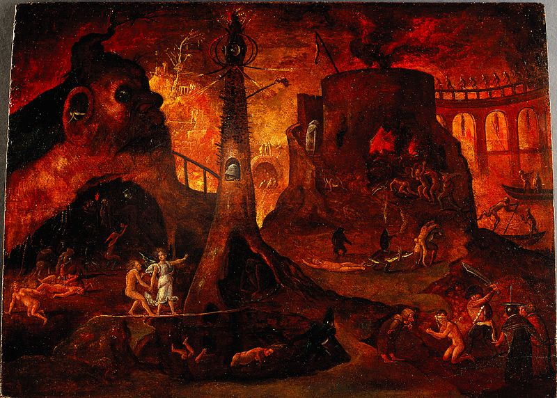 https://commons.wikimedia.org/wiki/File:An_angel_leading_a_soul_into_hell._Oil_painting_by_a_followe_Wellcome_L0030887.jpg