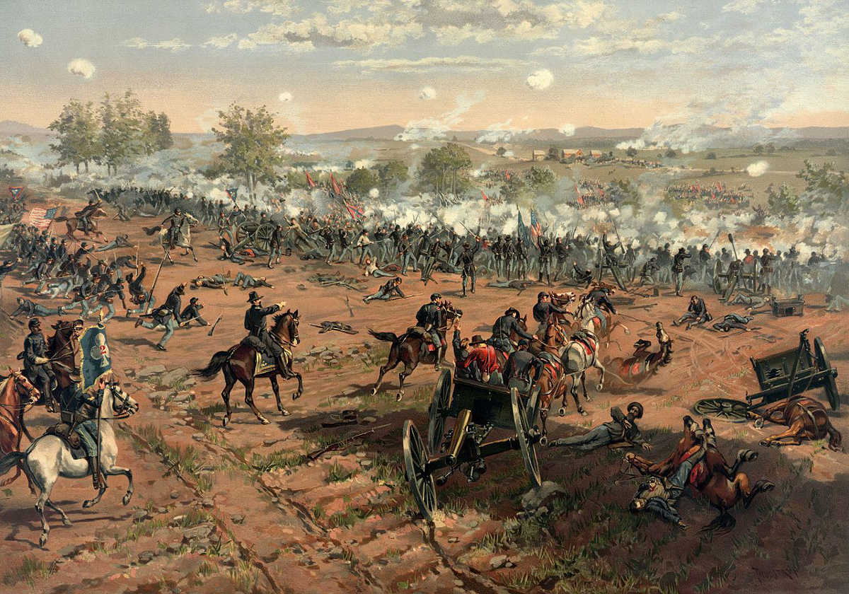 https://commons.wikimedia.org/wiki/File:Thure_de_Thulstrup_-_L._Prang_and_Co._-_Battle_of_Gettysburg_-_Restoration_by_Adam_Cuerden_(cropped).jpg