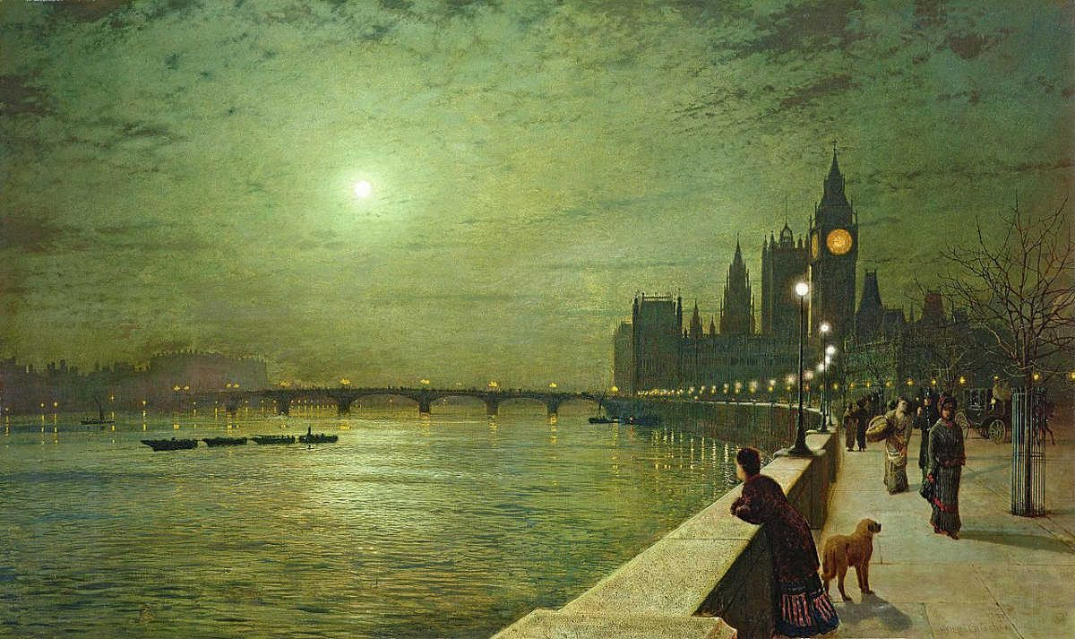 https://commons.wikimedia.org/wiki/File:Reflections_on_the_Thames,_Westminster_-_Grimshaw,_John_Atkinson.jpg
