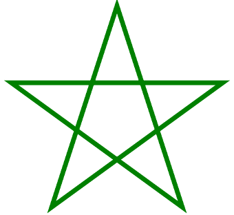 https://commons.wikimedia.org/wiki/File:Pentagram_green.svg