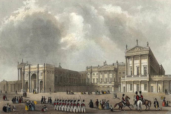 https://commons.wikimedia.org/wiki/File:Buckingham_Palace_engraved_by_J.Woods_after_Hablot_Browne_%26_R.Garland_publ_1837_edited.jpg
