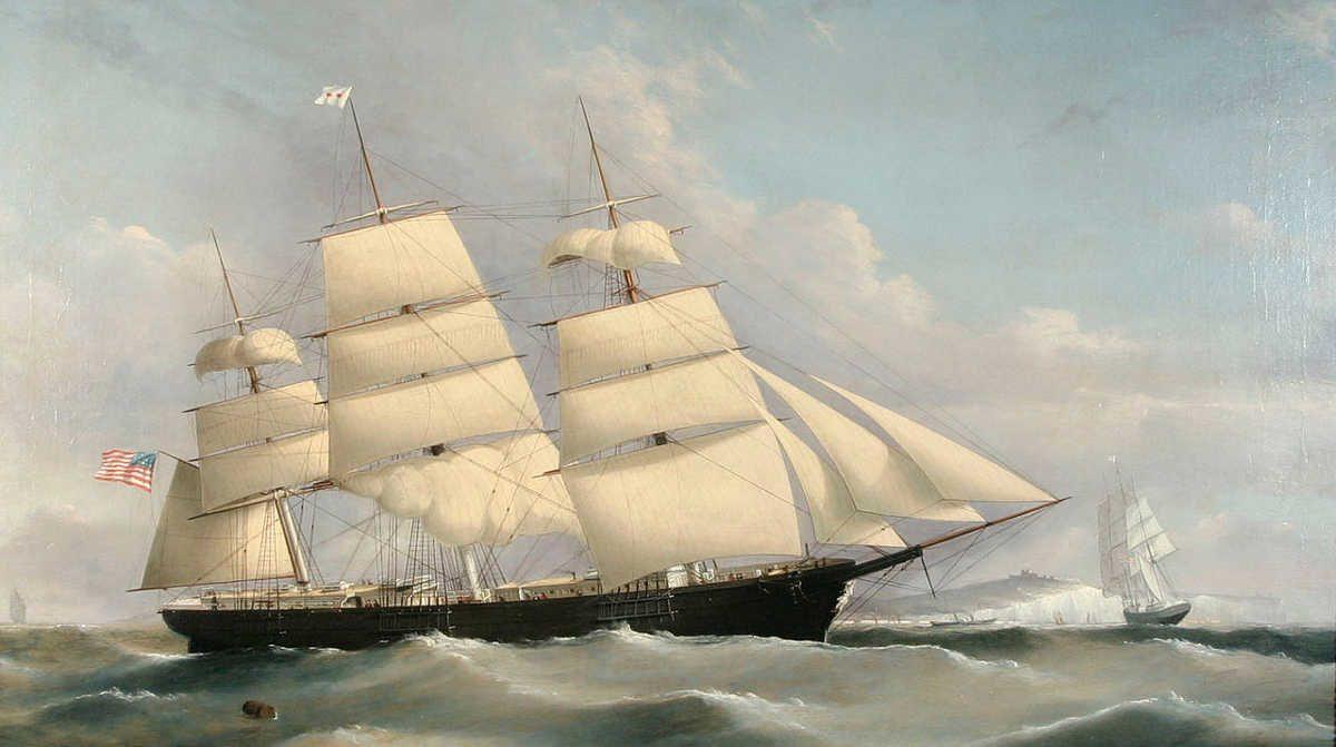 https://commons.wikimedia.org/wiki/File:Frederick_Tudgay_-_American_Transatlantic_Packet_BYZANTIUM.jpg