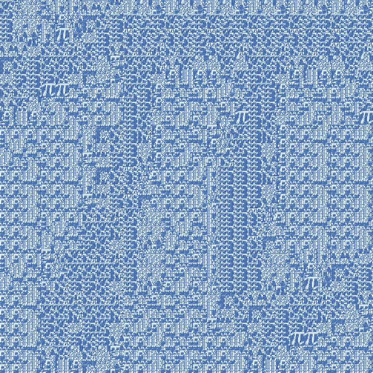 pi fractal - iterationl 8