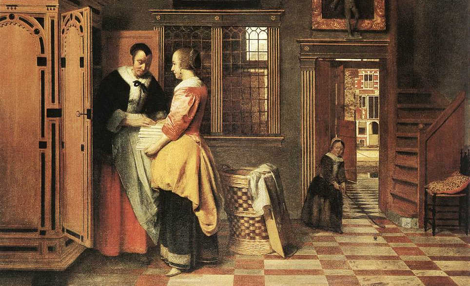 https://commons.wikimedia.org/wiki/File:Pieter_de_Hooch_-_At_the_Linen_Closet_-_WGA11712.jpg