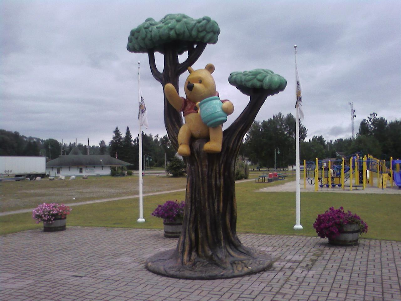 white river pooh monument