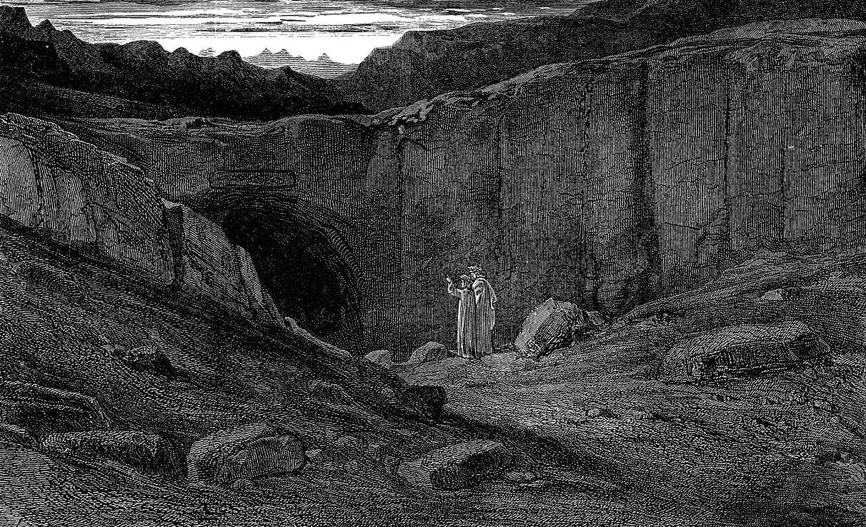 https://commons.wikimedia.org/wiki/File:Gustave_Dor%C3%A9_-_Dante_Alighieri_-_Inferno_-_Plate_8_(Canto_III_-_Abandon_all_hope_ye_who_enter_here).jpg