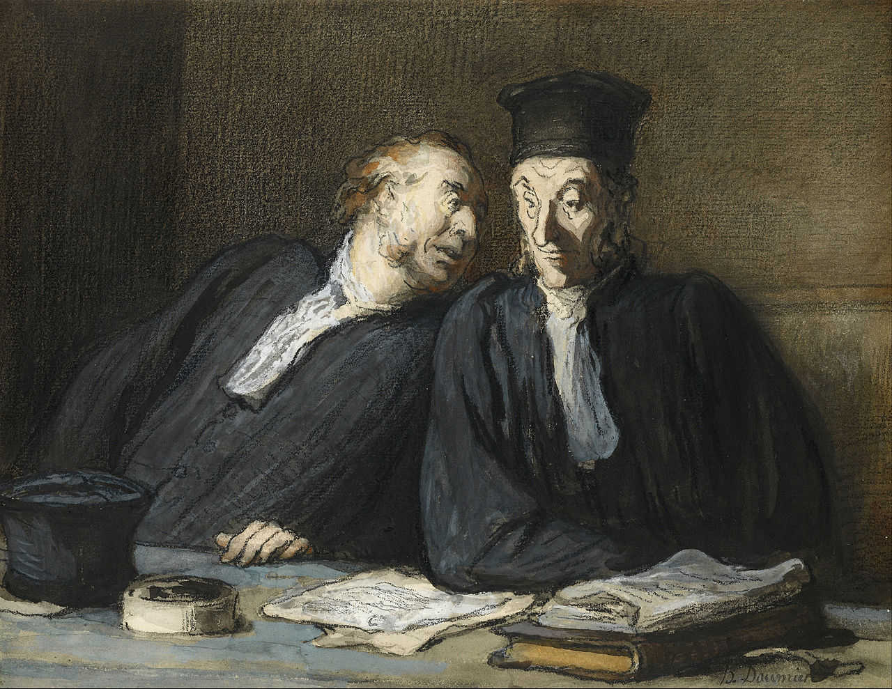 https://commons.wikimedia.org/wiki/File:Honor%C3%A9_Daumier_-_Two_Lawyers_Conversing_-_Google_Art_Project.jpg