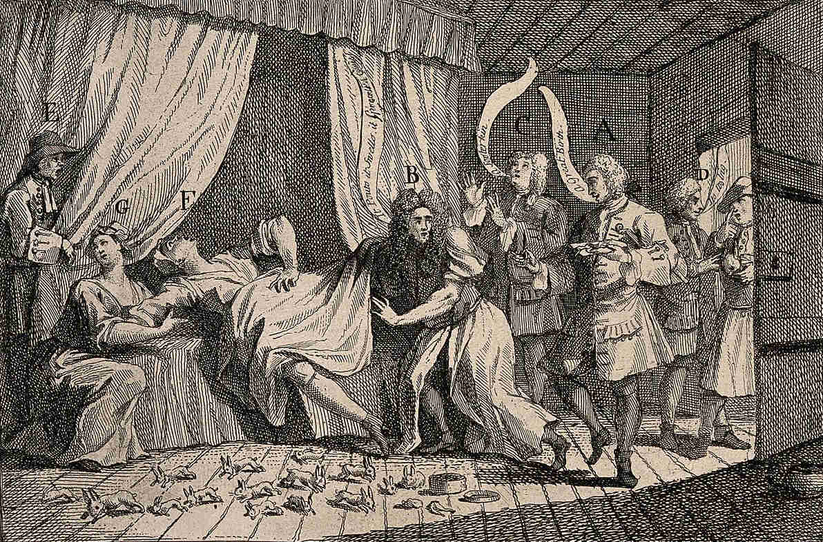 https://commons.wikimedia.org/wiki/File:Mary_Toft_(Tofts)_appearing_to_give_birth_to_rabbits_in_the_Wellcome_V0014994.jpg
