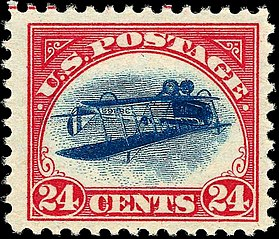 https://commons.wikimedia.org/wiki/File:US_Airmail_inverted_Jenny_24c_1918_issue.jpg