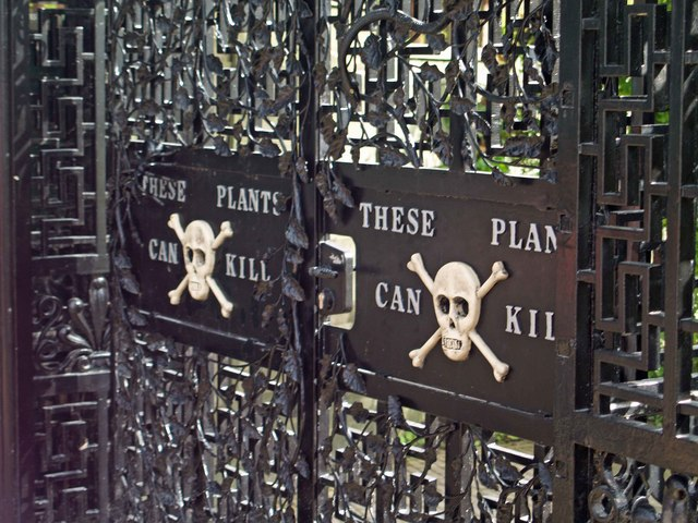 https://commons.wikimedia.org/wiki/File:Poison_Garden_gate_Alnwick_-_geograph.org.uk_-_907906.jpg