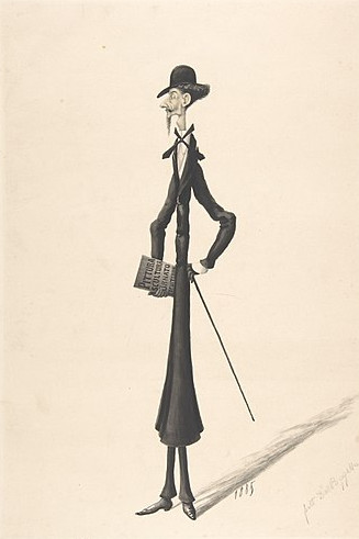 https://commons.wikimedia.org/wiki/File:Caricature_of_a_Tall_Thin_Man_Carrying_a_Book_MET_DP803932.jpg