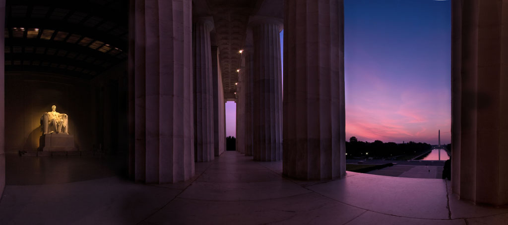 https://commons.wikimedia.org/wiki/File:Lincoln_Memorial_-_Sunrise_-_panoramio.jpg