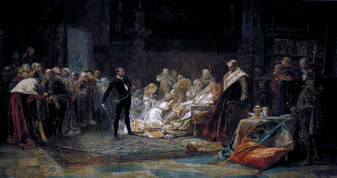 https://commons.wikimedia.org/wiki/File:%C3%9Altima_escena_de_Hamlet,_por_Jos%C3%A9_Moreno_Carbonero.jpg