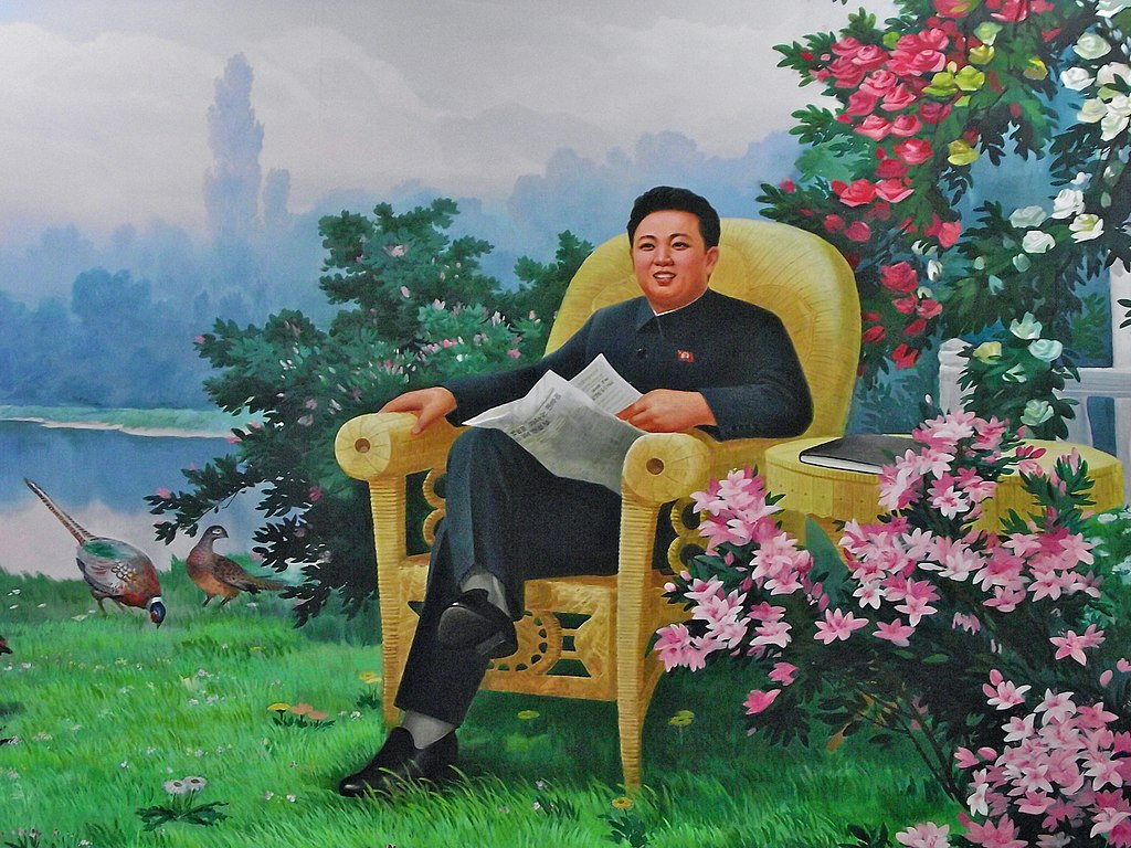 https://commons.wikimedia.org/wiki/File:Kim_Jong-il_in_North_Korean_propaganda_(6075328850).jpg