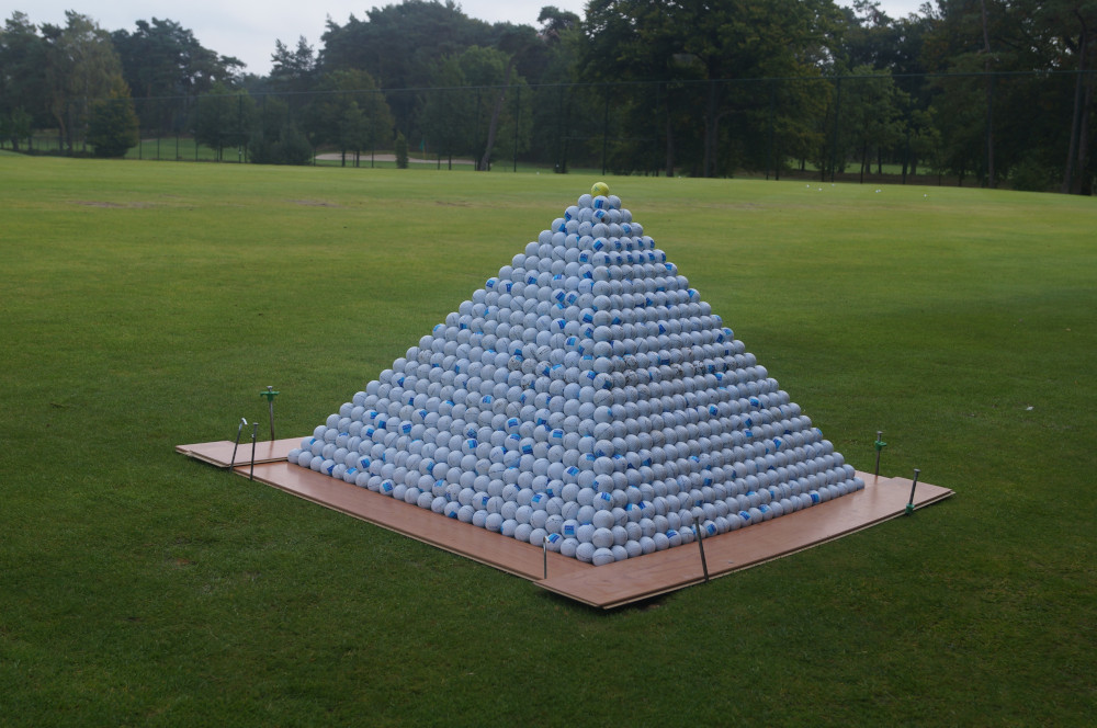 golf ball pyramid