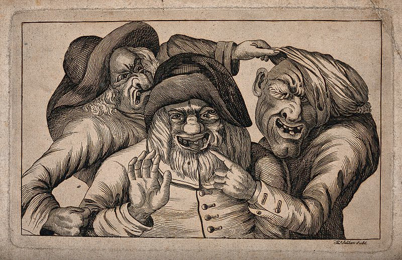 https://commons.wikimedia.org/wiki/File:Three_grotesque_old_men_with_awful_teeth_grimacing_and_point_Wellcome_V0012066.jpg