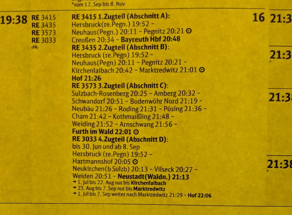 Nuremberg 19.38 train schedule
