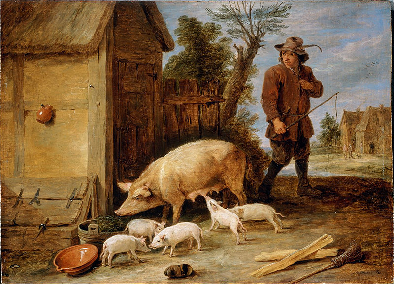 https://commons.wikimedia.org/wiki/File:Teniers,_David_the_younger_-_A_Sow_and_her_Litter_-_Google_Art_Project.jpg