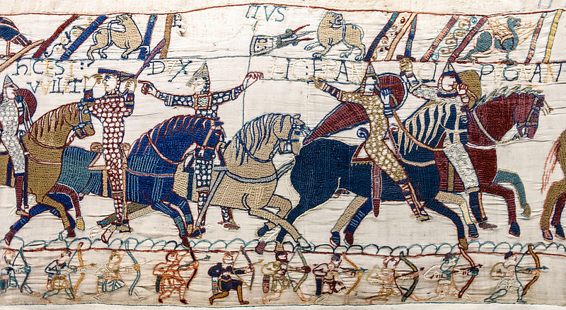 https://commons.wikimedia.org/wiki/File:Bayeux_Tapestry_scene55_William_Hastings_battlefield.jpg