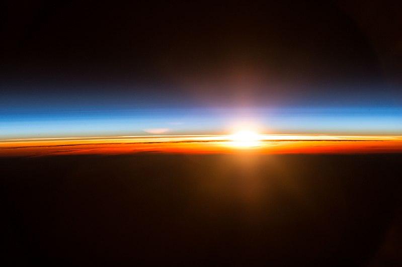 https://commons.wikimedia.org/wiki/File:ISS-49_Sunrise_over_the_Bering_Sea.jpg