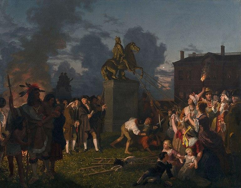 https://commons.wikimedia.org/wiki/File:Johannes_Adam_Simon_Oertel_Pulling_Down_the_Statue_of_King_George_III,_N.Y.C._ca._1859.jpg
